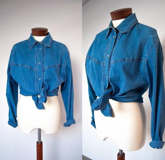 90s shirt, denim shirt, jeans shirt, grunge shirt,