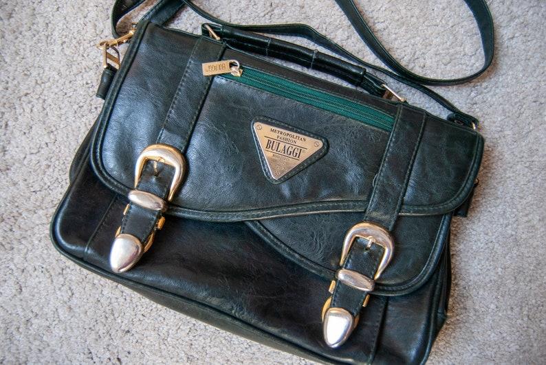 80s postman bag Vintage postman bag Vintage purse Bulaggi vintage postman bag vintage leather purse 80s leather crossbody purse