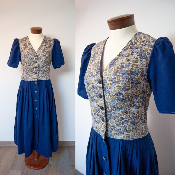Vintage Trachten Dirndl Dress, Chiemseer Dirndl an