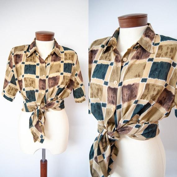 80s shirt, 1980s shirt, printed shirt, colorful sh