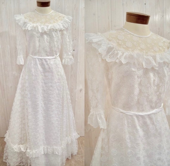 Vintage wedding dress, 60s wedding dress, retro we