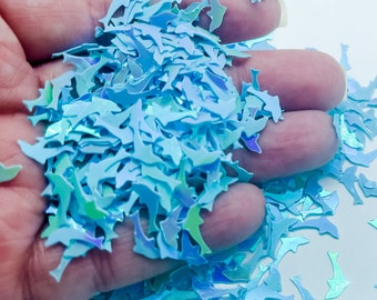 Blue Iridescent Dolphin Under Sea Fun Party Confetti Chunky Poly Glitter for Glitter Epoxy Tumblers Ships From USA