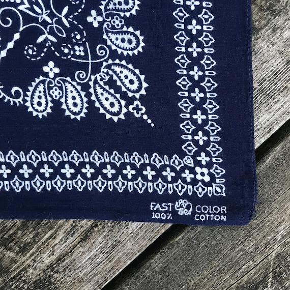 Vintage 1960's elephant brand all cotton bandana - image 2
