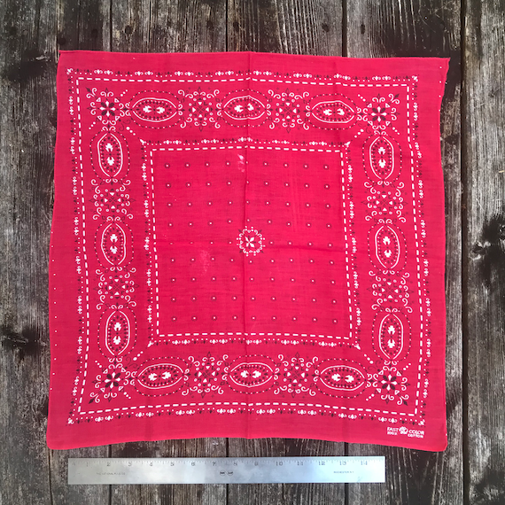Vintage 1960's elephant brand all cotton bandana