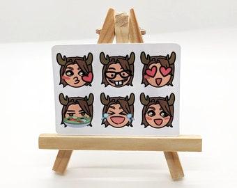 Sam Emoji Stickers - Kiss-Cut Supernatural matte
