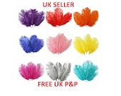 20-25cm Approx Beautiful Ostrich Feathers Fly Plume Craft Hat Arts Decorations Party UK