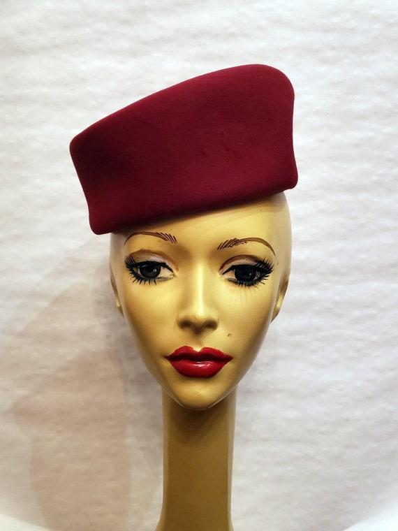 Vintage 1980s Carson / Underwood Felted Wool Hat