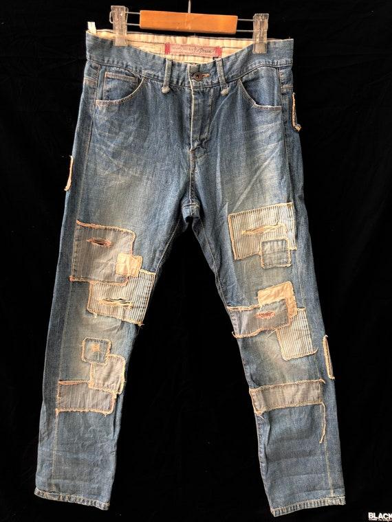Vintage Balcony&Bag Patchwork Destroyers Jeans