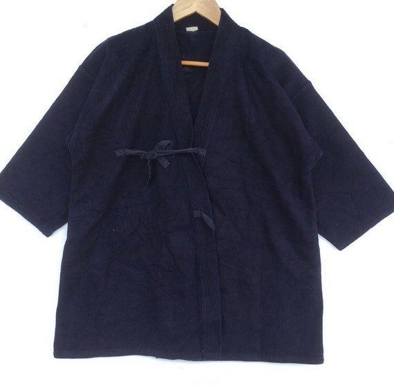 Vintage Japanese Traditional Blue Kimono Style Cot