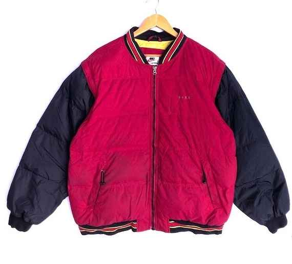 Vintage 90s' Multicolor Nike Puffer Down Jacket