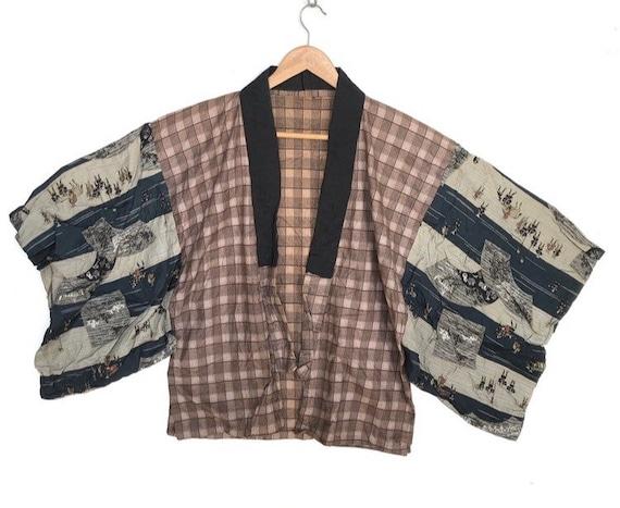 Vintage Japanese Traditional Kimono Patchwork Desi