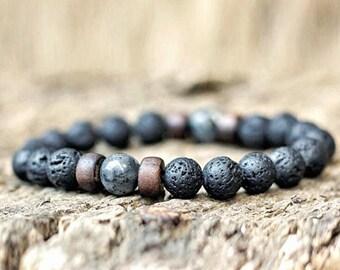 Men/'s Lava Bead Bracelet SALE!