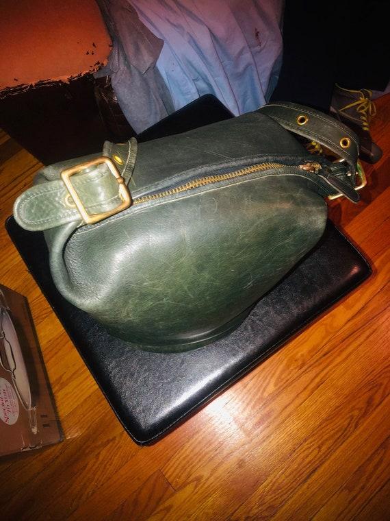 VTG Coach leather bucket feed bag XL