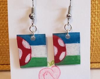 Kinoko Kingdom flag earrings Dream SMP