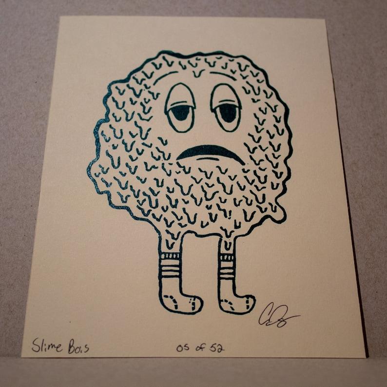 SlimeBoi Linocut Print