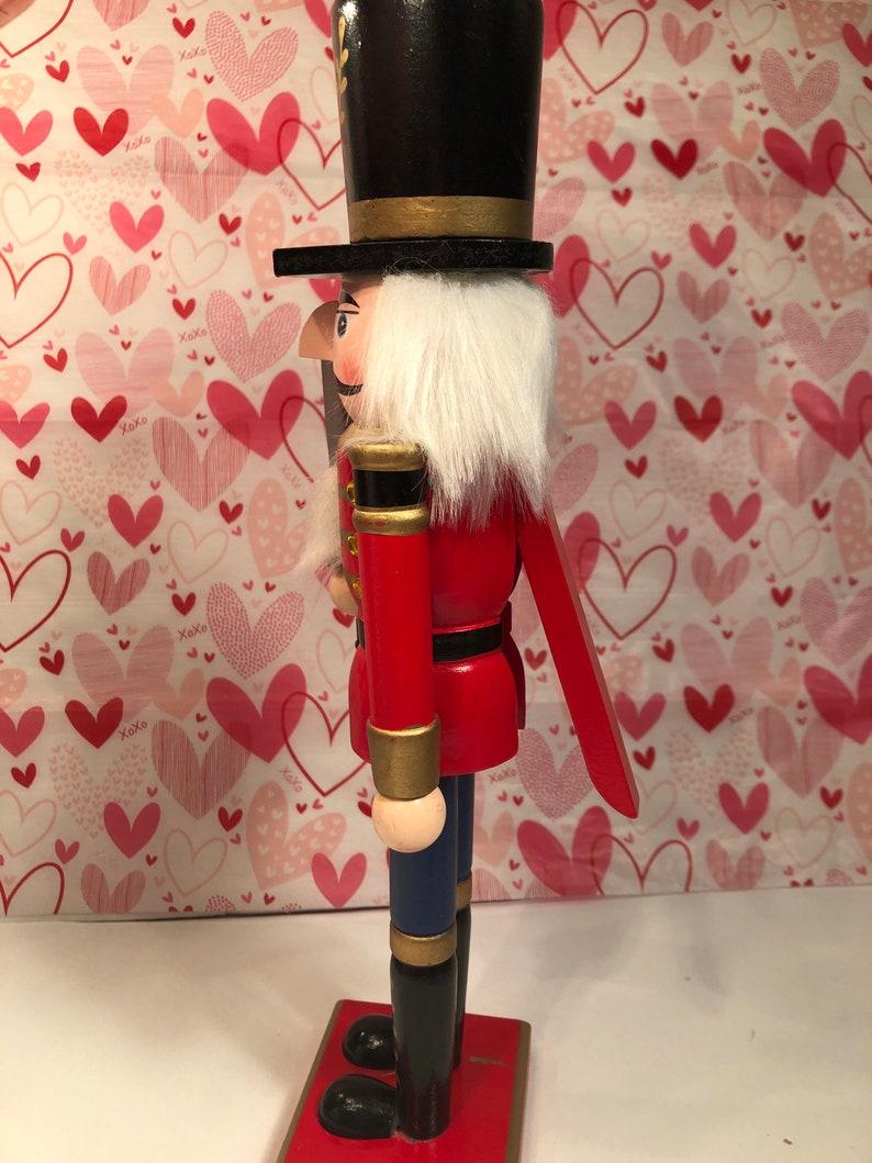 Handmade- Tall Wooden Nutcracker Hand painted