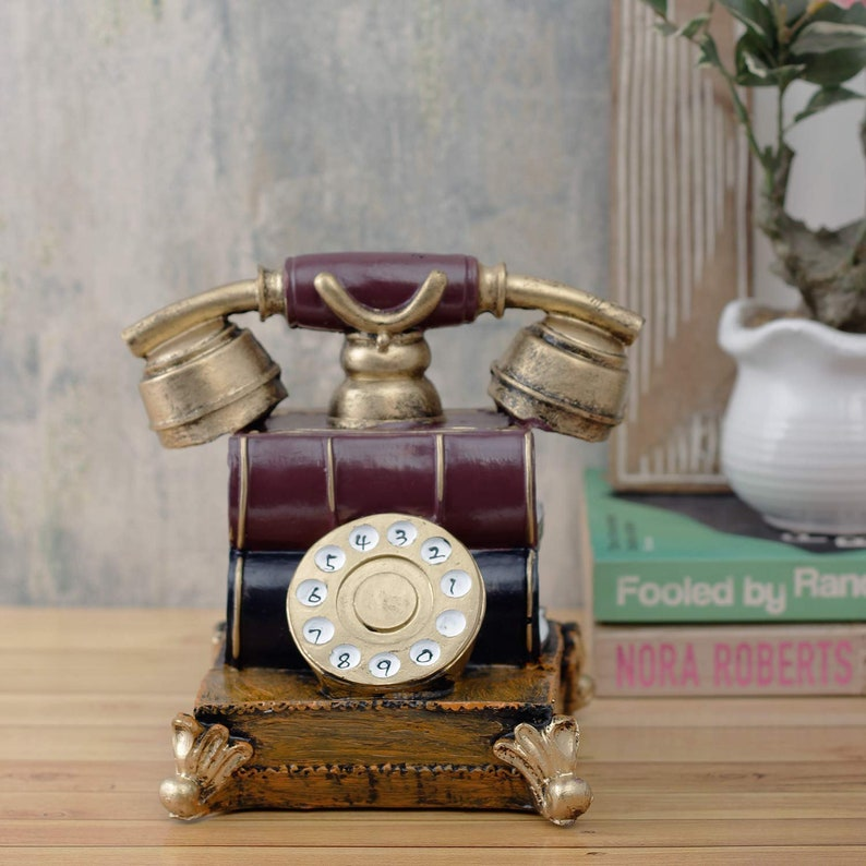 Large Vintage Telephone Accent Showpiece for Home Decor Quirky gifts retro telephone d\u00e9cor antique phones vintage d\u00e9cor and furniture