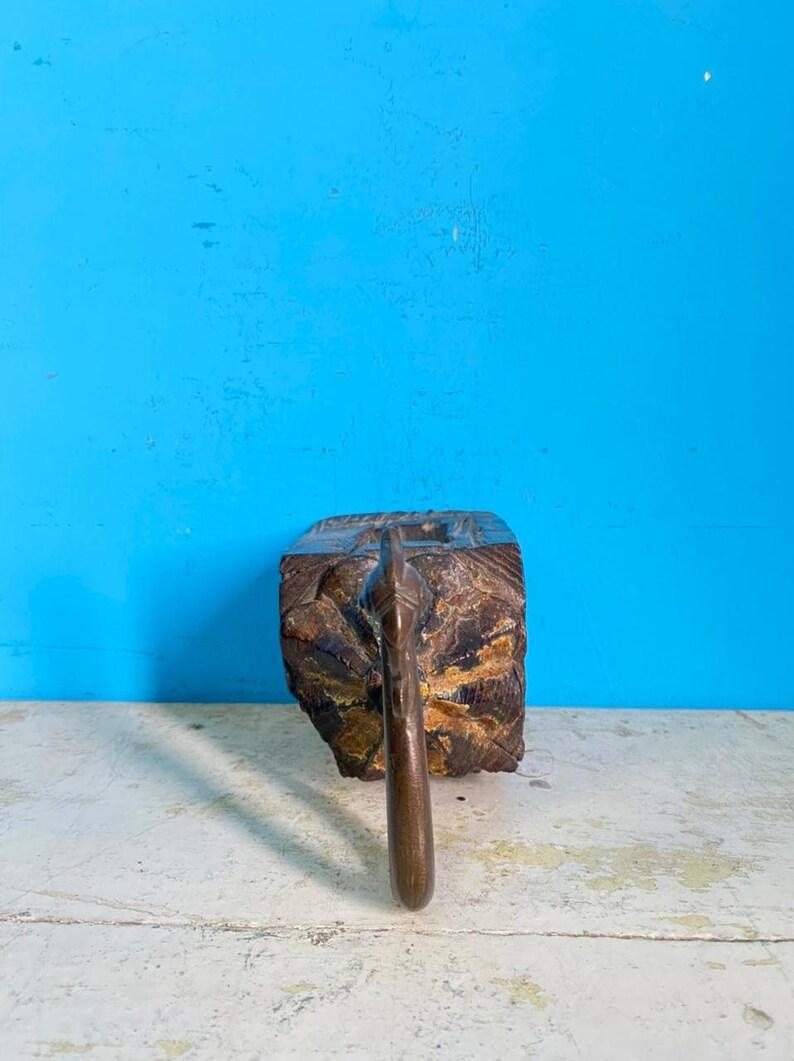 Wooden carved wall hookWooden carved wall hook with brass hook Wooden antique hook Wooden old hook Wooden collectible hook Wooden hook