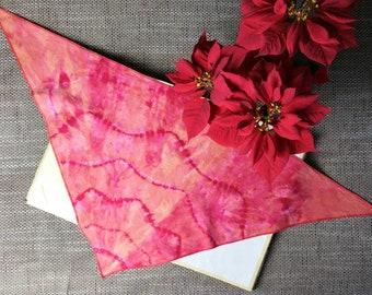 Reversible Bandana Dog CollarRed TrianglesPaintbrush flowers