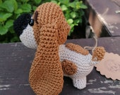Basset puppy Rusty by pattern by oneandtwocompany