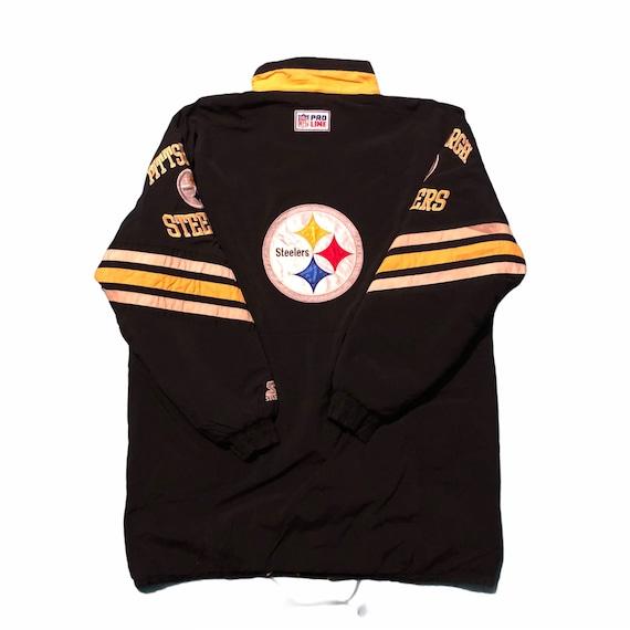 Vintage 90s Starter Pro Line NFL Steelers parkas j