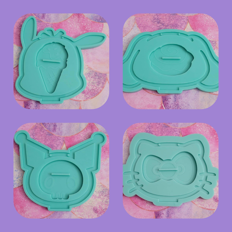 Форма для сережек - Форма для серьги Cat - Форма держателя сережек - Форма для кошек - Форма для собак - Форма из смолы - силиконовая форма - Сережка