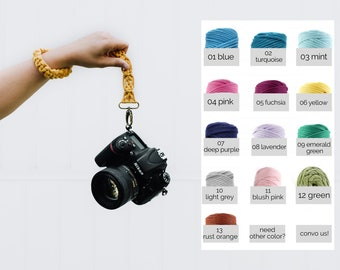 CAMERA WRIST STRAP / choose your fave color / macrame / boho / photography paracord strap for creatives / gift for photographer