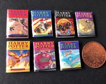 Conjunto de 4 Harry Potter Estilo quibblers para una escala 1//12 Casa De Muñecas