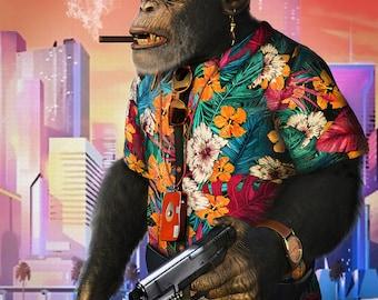 The Monkey Business fantasy digital portrait