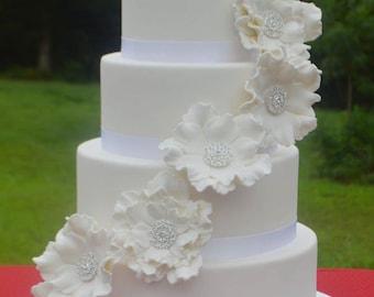 Faux Wedding Cake, 4 Tier Wedding Cake, Fake Wedding Cake, Display Cake, Photo Prop