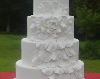 Ready to Ship!!! Faux Wedding Cake, 4 Tier Wedding Cake, Fake Wedding Cake, Display Cake, Photo Prop