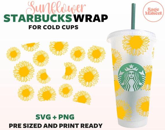 Download Sunflower Starbucks Cup SVG Floral Cold Cup SVG Flower | Etsy