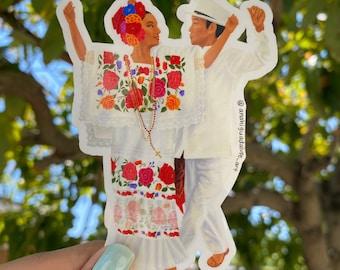 WATERPROOF Yucatán Ballet Folklorico Sticker