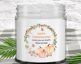 Vanilla Soy Candle | Gift for Daughter from Parents | Happy Thanksgiving Day | Fall Decorations for Home