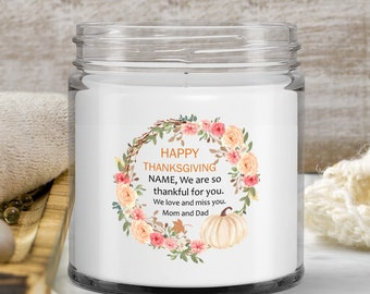 Vanilla Soy Candle | Personalized Thanksgiving Gift | Sweet Spice Scented