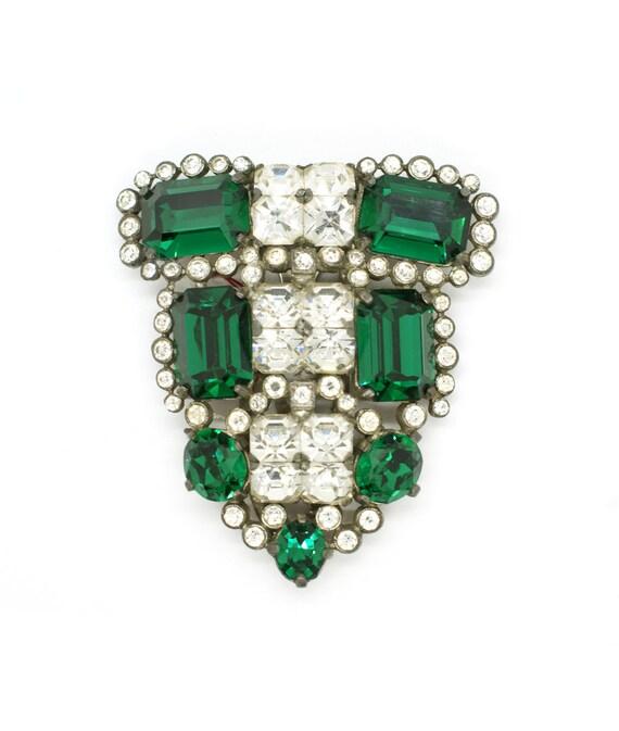 Eisenberg Original Emerald Green Dress Clip