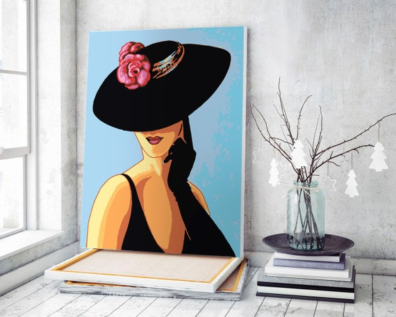 Lady DIY Set Woman Painting By Numbers High-quality Standing Back Picture With Frame Without Frame Best Gift for Painter Adult Fashion Painting