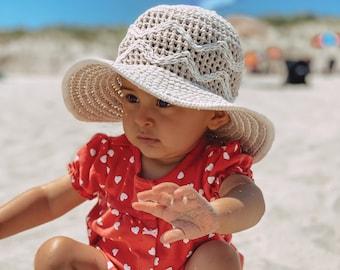 READY TO SHIP*** Handmade crochet sun hat for child