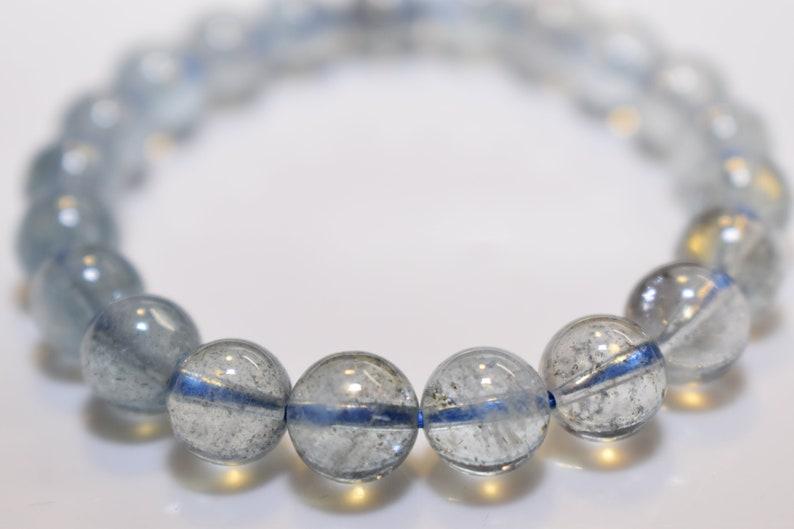 9mm+ Aquamarine Stretch Bracelet