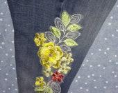 Embroidered Jean Legging