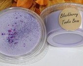 Blackberry Tonka Bean Strong Scented 2 oz Wax Melt Shot Cup Sample Size with glitter