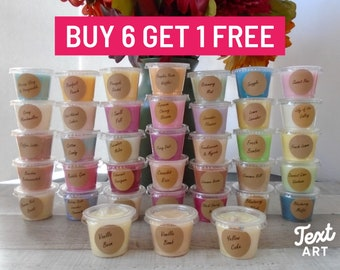 Buy 6 Get 1 FREE/Buy 12 Get 2 FREE/Strong Scented Wax Melt Cup/Your Choice of scents/Wax Melt Gift