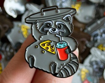 Snack Raccoon Enamel Pin