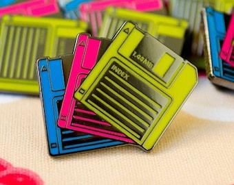 Floppy Disks Enamel Pin