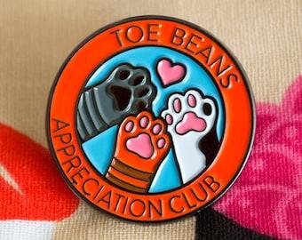 Toe Beans Appreciation Club Enamel Pin
