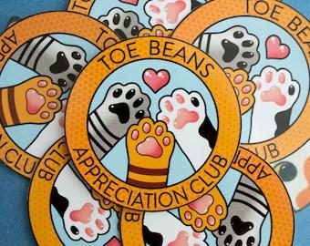 Toe Beans Appreciation Club Sticker