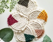 Macrame Coffee Coasters - Table Decor