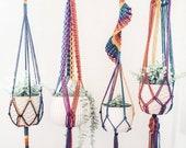 Rainbow Macrame Plant Hanger