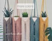 Plant Hanger with Long Fringe - Macrame Plant Hanger