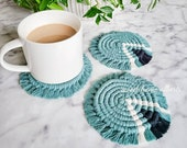 Coffee Table Coasters - Tri-Color Macrame Coaster